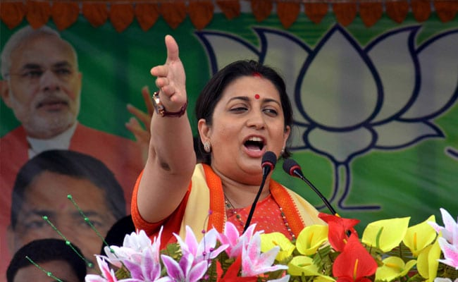 In UP's Amethi, Smriti Irani To Take On Rahul Gandhi For A Second Time