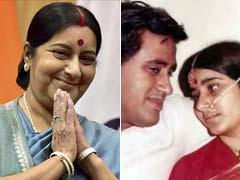 Sushma Swaraj Tweets Pic of Herself as Young Bride on Wedding Anniversary