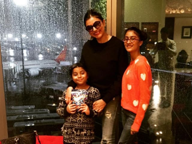 Sushmita Sen's Adventure Holiday With Daughters Renee And Alisah