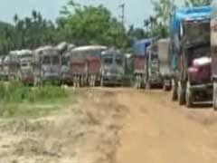 Stuck In Slush, Drivers At Assam-Tripura Border May Now Get Some Relief