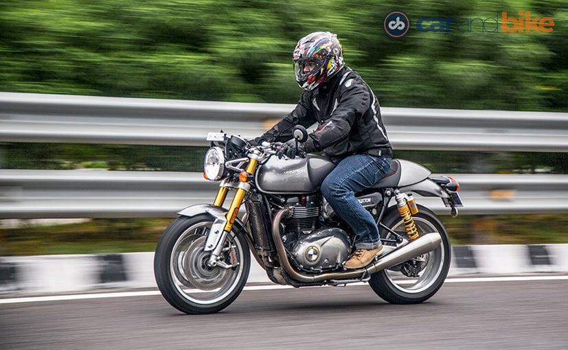 2016 triumph thruxton r test ride review - ndtv carandbike