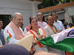 Amit Shah Flags Off Tiranga Mototrcycle Yatra For BJP Lawmakers