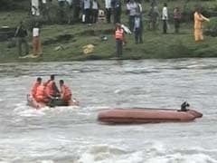 Search Operations On Amid High Water Current, Crocodiles In River