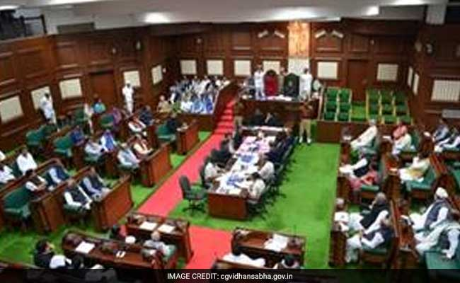 Congress Stages Protest Against Privatisation Of Model Schools In Tribal Areas In Chhattisgarh Assembly