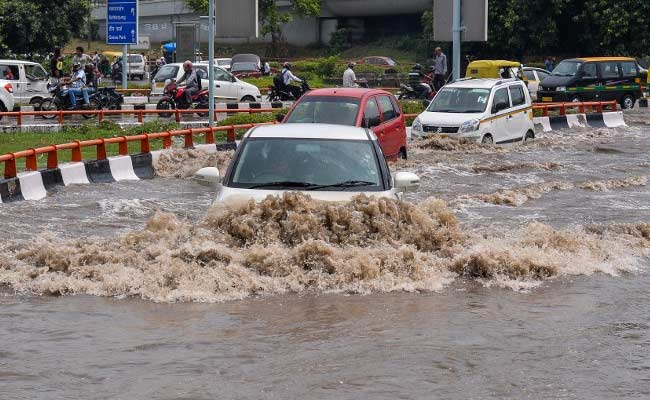 Delhi And Gurgaon Locked Down By Rain And Monster Jams