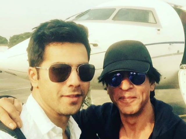 There is a Shah Rukh Khan Selfie in Varun Dhawan's Dream Team Update