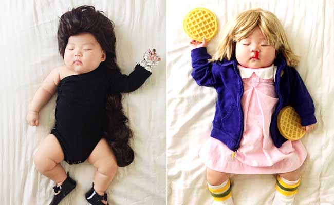 This Sleeping Baby's Mom Dresses Her Up As Beyonce, Jon ...