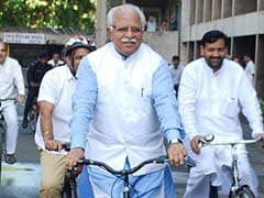 Haryana Chief Minister, BJP Lawmakers Cycle To Assembly