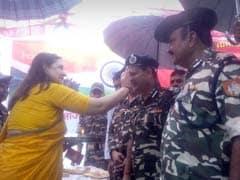 Maneka Gandhi Ties Rakhis To SSB Jawans At Indo-Nepal Border