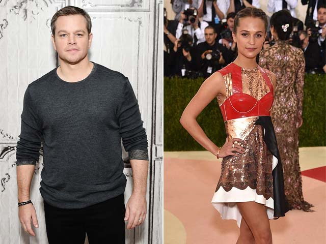 Matt Damon is Like Everyone's Mate, Says Alicia Vikander