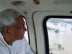 पुनपुन नदी ने तटबंध तोड़ा, नीतीश ने किया हवाई सर्वेक्षण