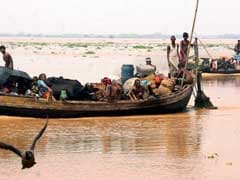 Houses Submerged After Ganga Flood Waters Enter Bihar Capital