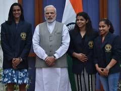 रियो ओलिंपिक के चैंपियन खिलाड़ियों ने की प्रधानमंत्री नरेंद्र मोदी से मुलाकात