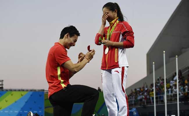 proposal at olympics