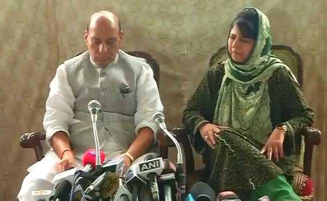 कश्मीर में अमन के लिए महबूबा को केंद्र के साथ सहमत करने में कामयाब रहे राजनाथ