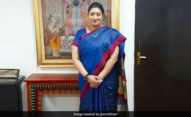 Man Throws Bangles At Union Minister Smriti Irani In Gujarat
