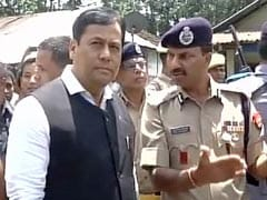 Sarbananda Sonowal Visits Attack Site In Kokrajhar