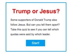 Who Said It: Trump Or Jesus? Why 1.5 Million People Have Taken This Quiz