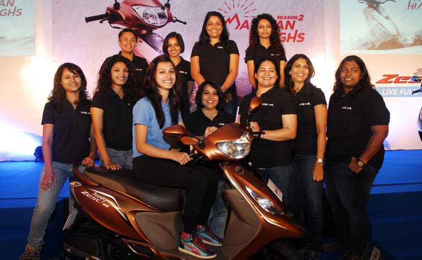 10 Women Shortlisted To Ride The TVS Scooty Zest To Khardung-La