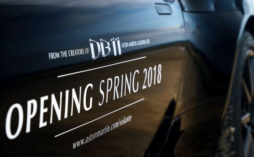 Aston Martin DB11 Volante Officially Teased; Launch In 2018