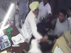 Akali Dal Leader, Son Caught On Camera Assaulting Nurse, Arrested