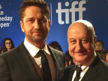 Anupam Kher's TIFF Red Carpet Moment With Gerard Butler
