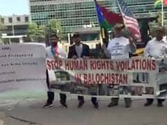 Protests Outside UN Over Pakistan Army's Atrocities In Balochistan, Sindh