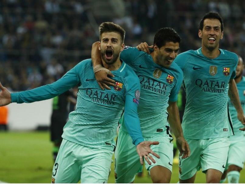 Lionel Messi-Less Barcelona Fight Back to Down Borussia Monchengladbach