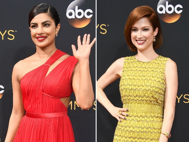 Emmys Red Carpet Was All About Priyanka Chopra, Red and Yellow