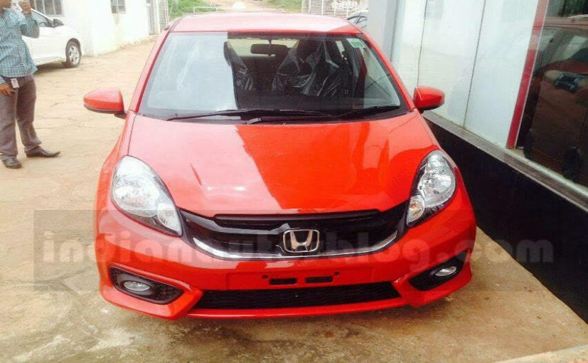 2016 honda brio facelift spotted in india