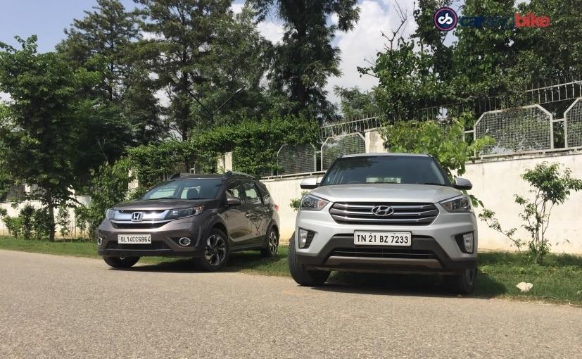 Hyundai Creta and Honda BR-V - Front