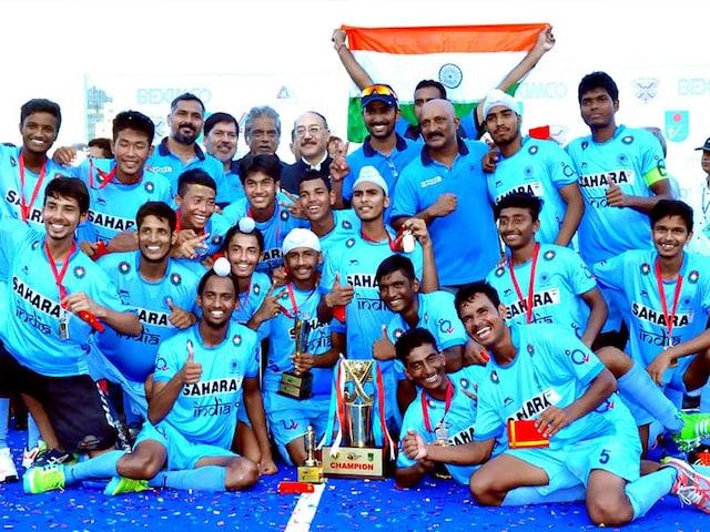 India Beat Bangladesh 5-4 to Lift U-18 Mens Asia Cup Hockey Title