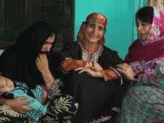 Jammu And Kashmir Chief Minister Mehbooba Mufti Meets Family Of Violence Victim
