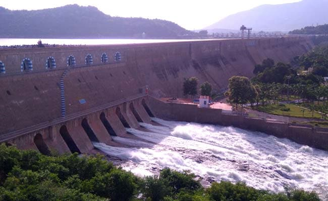 the beautiful view of Mettur dam