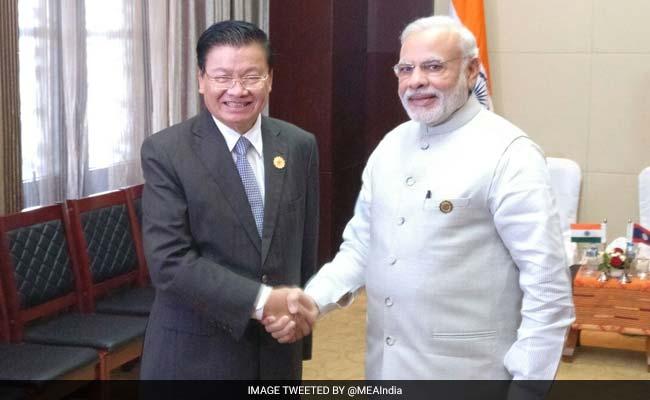 PM Narendra Modi Meets Laos PM Thongloun Sisoulith