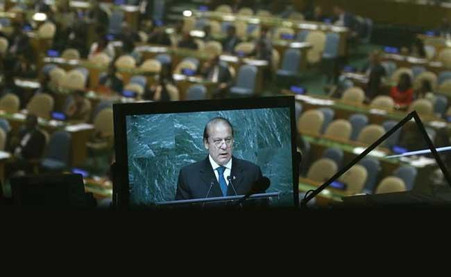 Nawaz Sharif Says At UN 'World Ignoring South Asia Tensions At Its Own Peril'