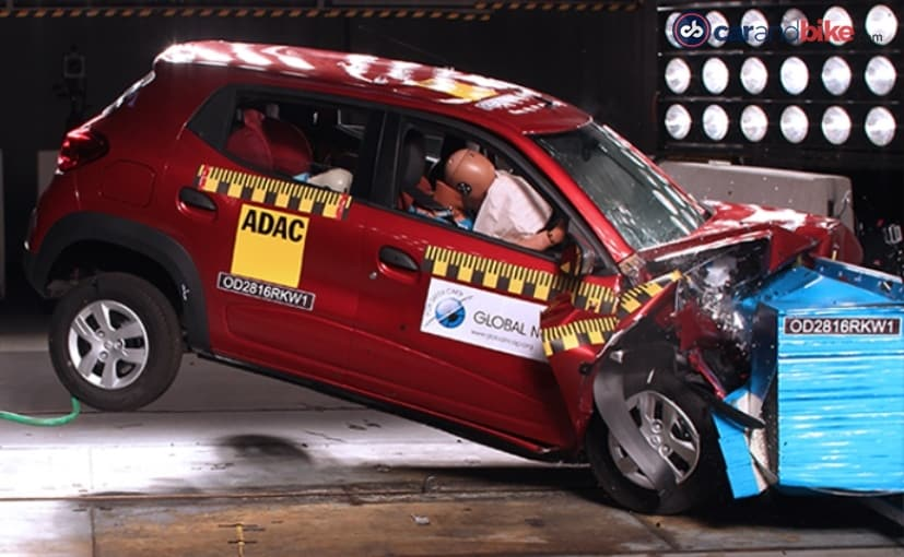 Updated Renault Kwid Receives 1 Star, Base Honda Mobilio Gets 0 In Latest Round Of India Crash Tests