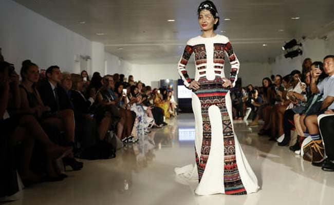 Indian Acid Attack Survivor Walks The Ramp At New York Fashion Week