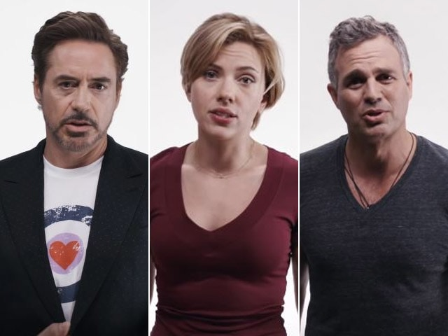 Robert Downey Jr and the Avengers Assemble Against Donald Trump