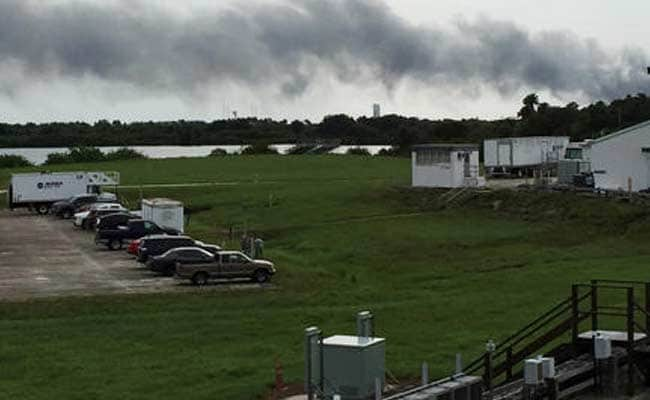 Explosion At SpaceX Falcon 9 Rocket Launch Site In Florida