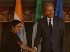 Sushma Swaraj Meets Italian Counterpart Paolo Gentiloni