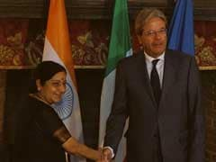 Sushma Swaraj Holds Talks With Italian Counterpart In Rome