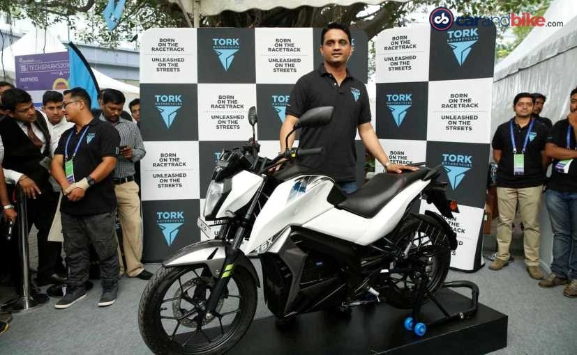 Kapil Shelke, Co-founder, Tork Motorcycles with the T6X