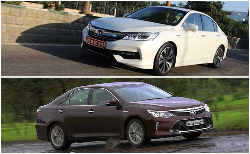 honda accord hybrid vs toyota camry hybrid specifications and features comparison ndtv carandbike. Black Bedroom Furniture Sets. Home Design Ideas