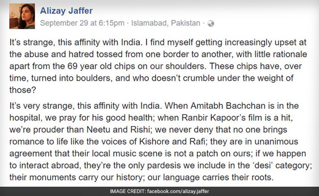Viral: Pakistani Woman's Facebook Post On The Day Of The Surgical Strikes