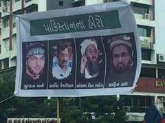 गुजरात में अरविंद केजरीवाल को बताया पाकिस्तान का हीरो, ओसामा बिन लादेन के साथ लगे पोस्टर