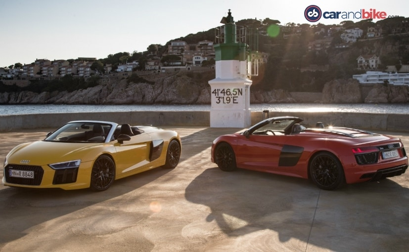 Audi R8 Spyder will be offered in 4 paint shades