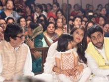 In Pics: Aaradhya Celebrates Durga <i>Ashtami</i> With Aishwarya, Amitabh Bachchan