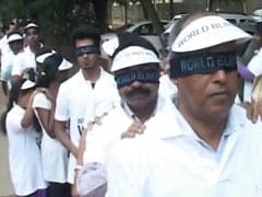 Hundreds Participate In Bengaluru's Blind Walk, Guided By Visually Impaired