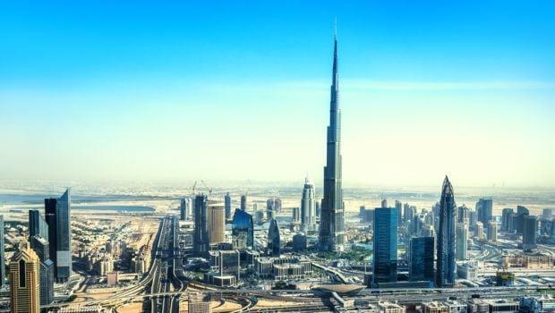 Dubai's Burj Khalifa Lit Up in Pink for Breast Cancer